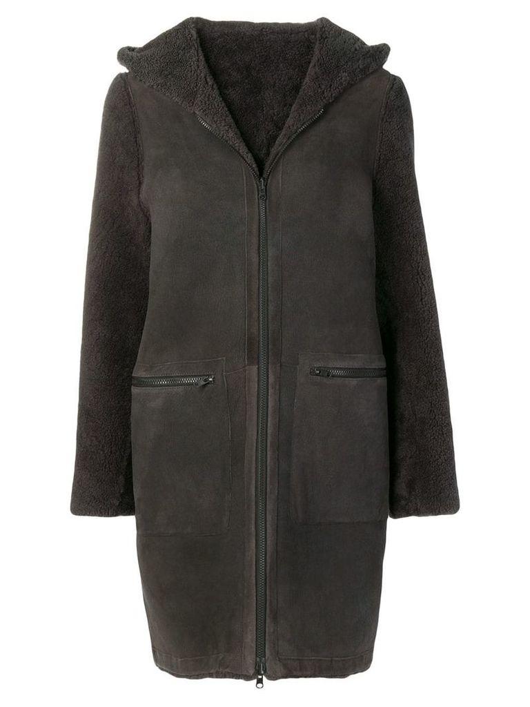 Liska Bill panelled coat - Grey