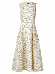 Calvin Klein 205W39nyc leopard print flared dress - Neutrals