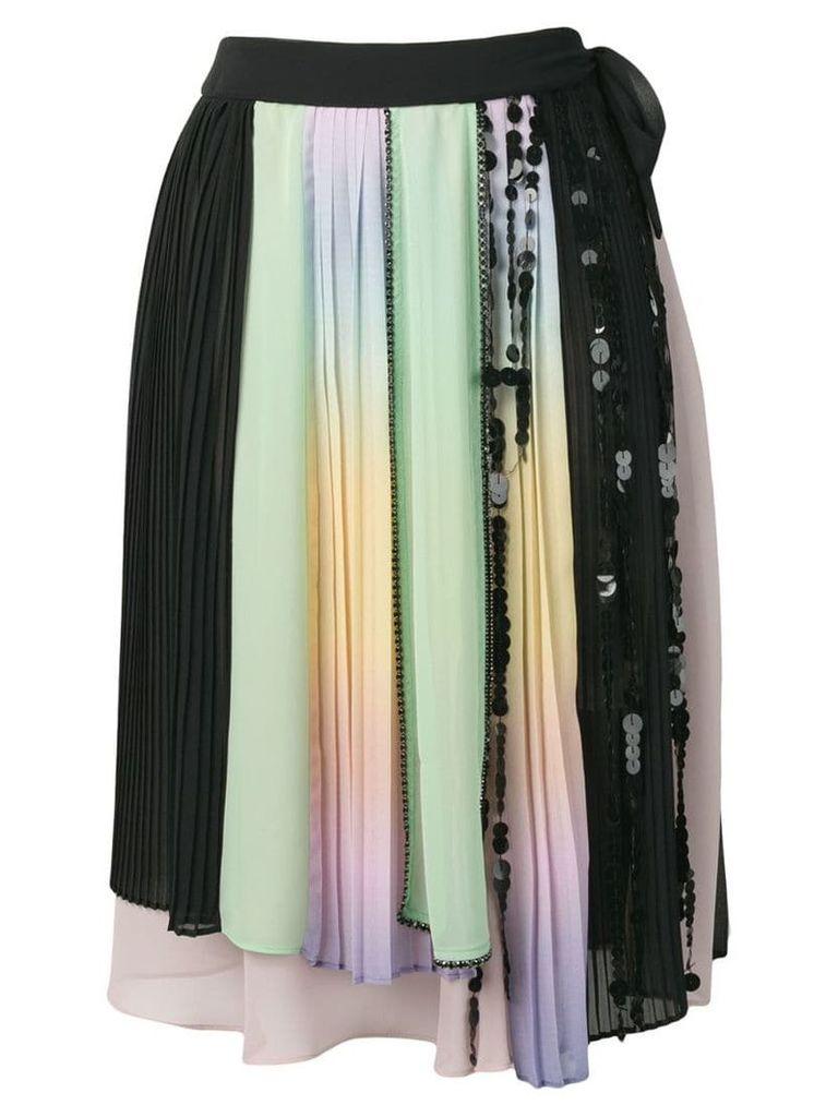 Marco De Vincenzo asymmetric midi skirt - Green
