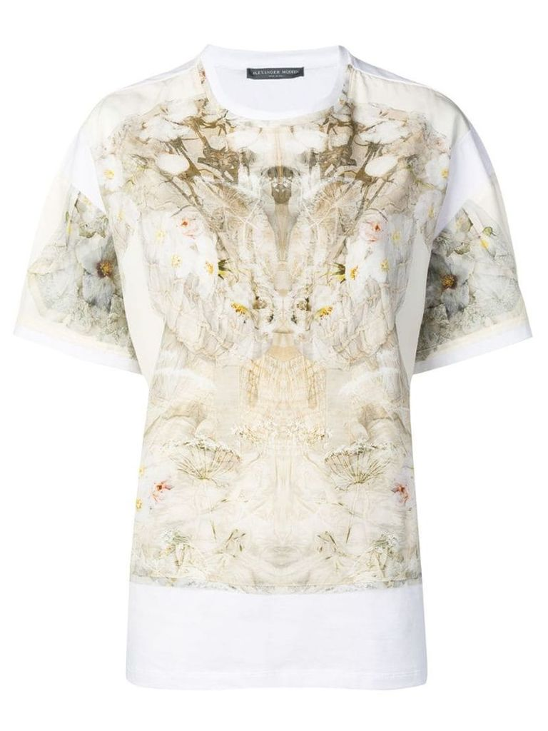 Alexander McQueen Ophelia print T-shirt - White