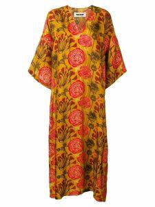 Uma Wang floral short-sleeve maxi dress - Orange