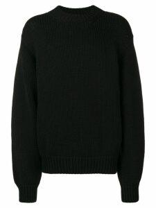Zilver crew-neck wool jumper - Black