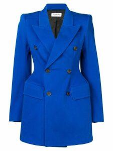 Balenciaga hourglass blazer - Blue