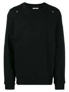 Zilver Round Neck Sweatshirt in Organic Cotton - Black