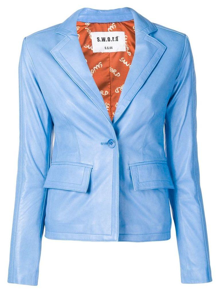 S.W.O.R.D 6.6.44 fitted blazer - Blue
