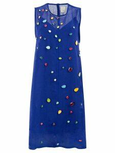 Maison Rabih Kayrouz embellished dress - Blue