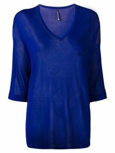 Pierantoniogaspari sheer knitted top - Blue