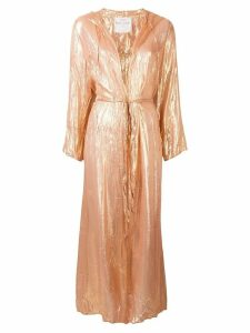 Forte Forte hooded duster coat - Gold