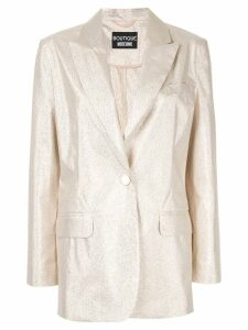 Boutique Moschino glitter oversized blazer - Gold