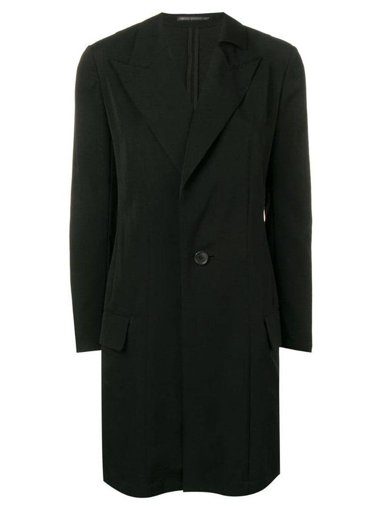 Yohji Yamamoto stitching detail coat - Black
