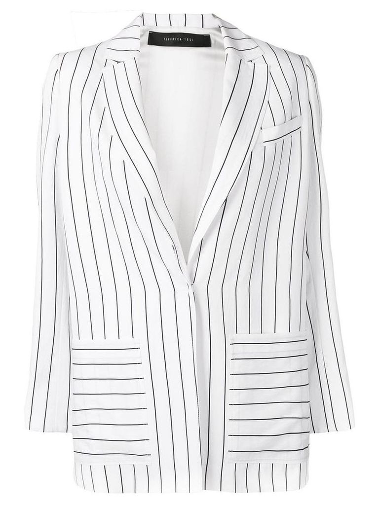 Federica Tosi striped blazer - White
