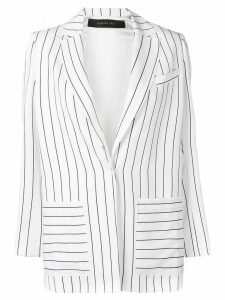 Federica Tosi striped blazer - White