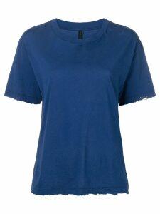 Unravel Project distressed crewneck T-shirt - Blue