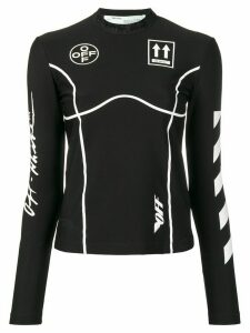 Off-White long sleeve graphic print top - Black