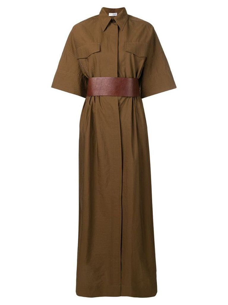 Brunello Cucinelli utility maxi dress - Brown