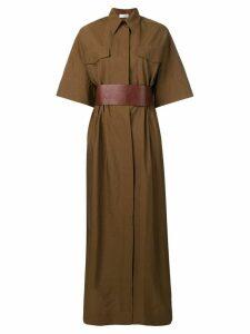 Brunello Cucinelli utility maxi dress - Brown