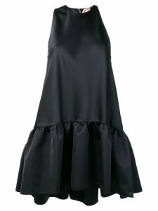 Nº21 ruffled hem dress - Black