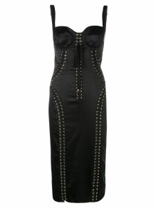 Dolce & Gabbana lace-up bustier dress - Black