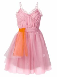 MSGM ruffle-trimmed tulle dress - Pink