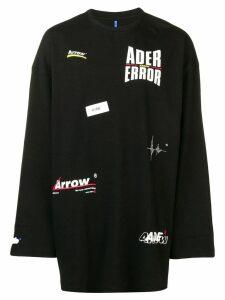 Ader Error logo printed jumper - Black