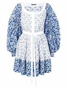 Alexander McQueen floral peasant dress - White