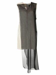 Yang Li contrast panel dress - Black