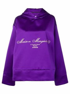 Mm6 Maison Margiela oversized draped sweatshirt - Purple
