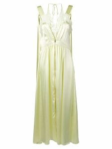 Stella McCartney sleeveless satin dress - Yellow