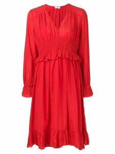 Closed pleated dress - Red