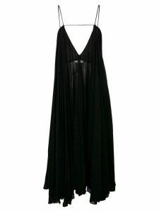 Jacquemus loose ruffle dress - Black