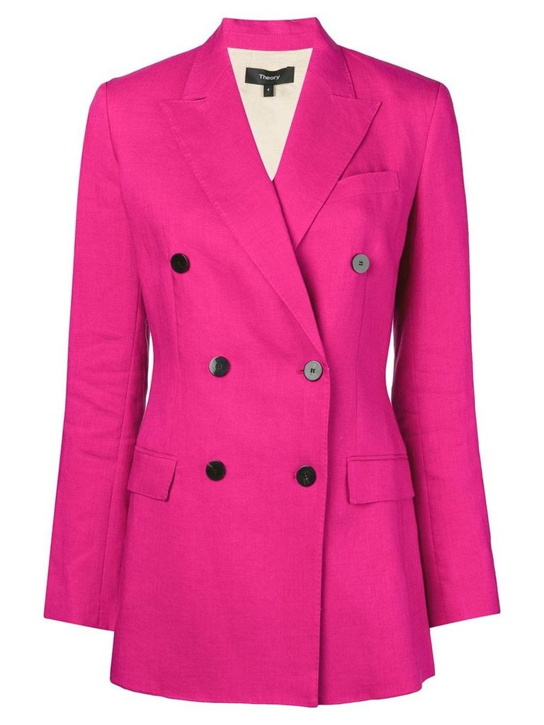 Theory double-breasted tailored blazer - Pink