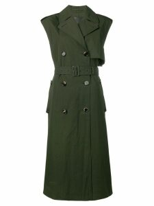 Bottega Veneta sleeveless belted trenchcoat - Green