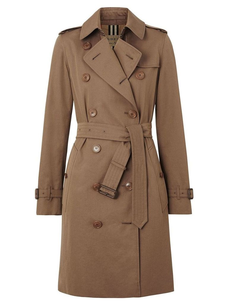 Burberry Tropical Gabardine Trench Coat - Brown