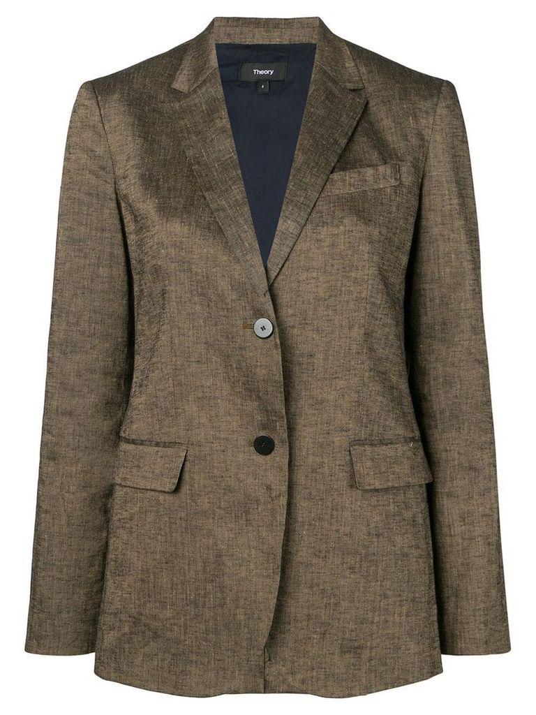 Theory tailored blazer jacket - Brown