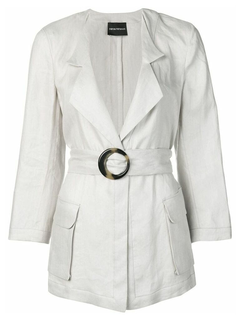Emporio Armani Saharian belted jacket - Grey