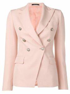 Tagliatore classic slim-fit blazer - Pink