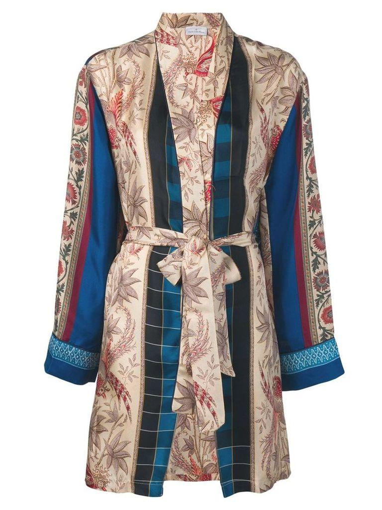 Pierre-Louis Mascia floral belted cardi-coat - Neutrals