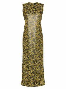 Markoo floral print straight dress - Black