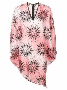 Fausto Puglisi sun-print v-neck dress - Pink