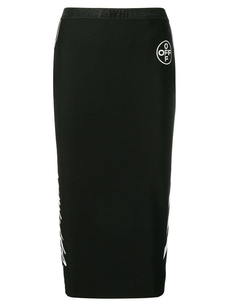 Off-White Diag pencil skirt - Black