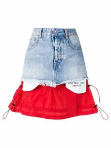 Unravel Project deconstructed denim skirt - Blue