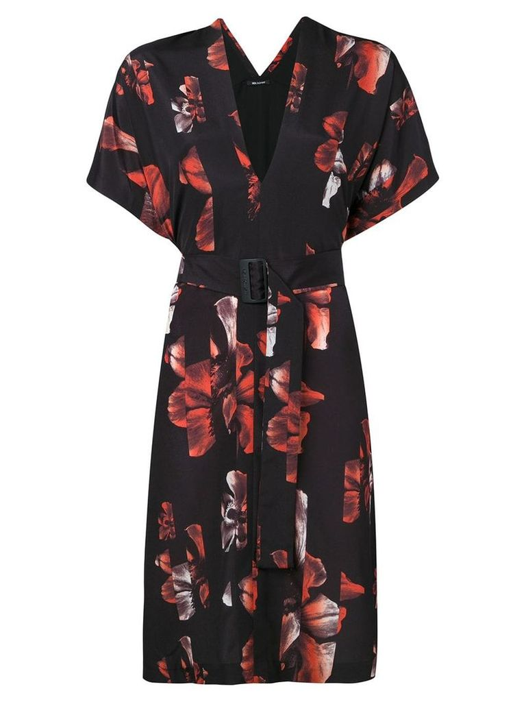 Neil Barrett floral print dress - Black
