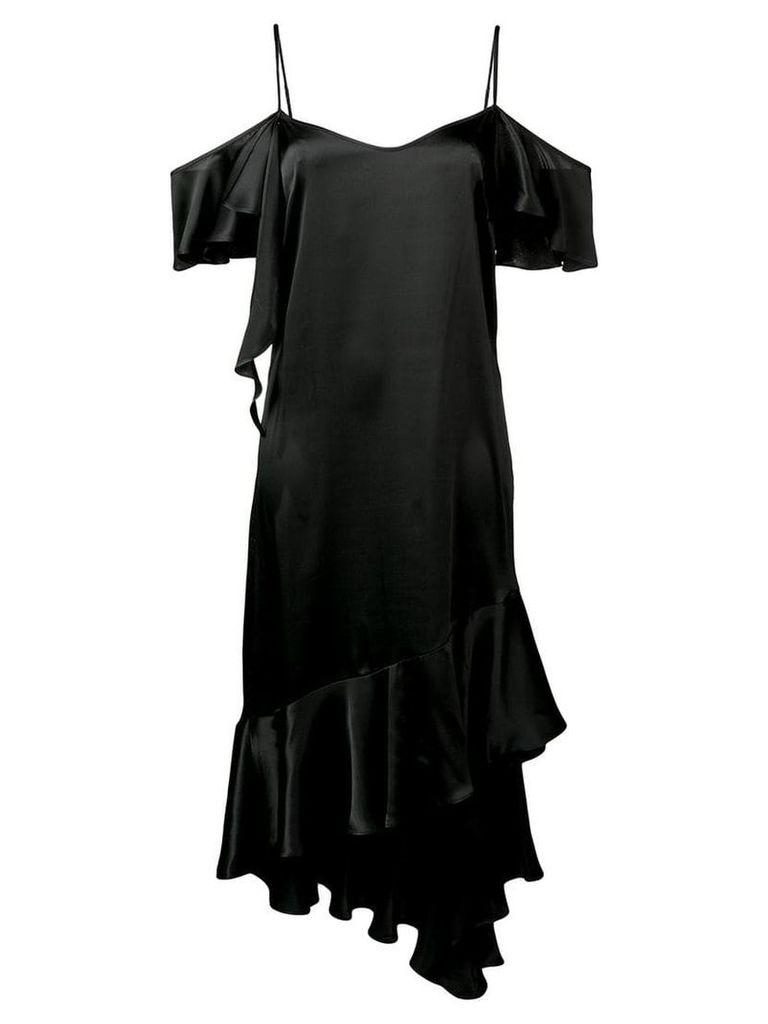 Semicouture off shoulder drape dress - Black