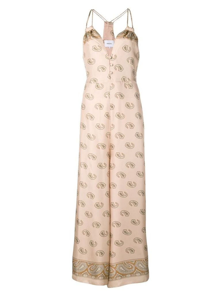Nanushka paisley print maxi dress - Neutrals