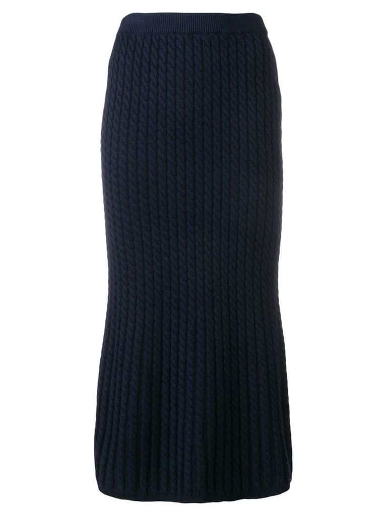 Alessandra Rich cable knit tube skirt - Blue