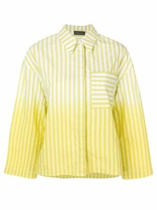 Roberto Collina oversized striped shirt - Yellow