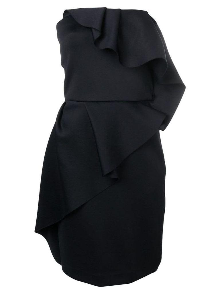 LANVIN ruffle bustier dress - Black