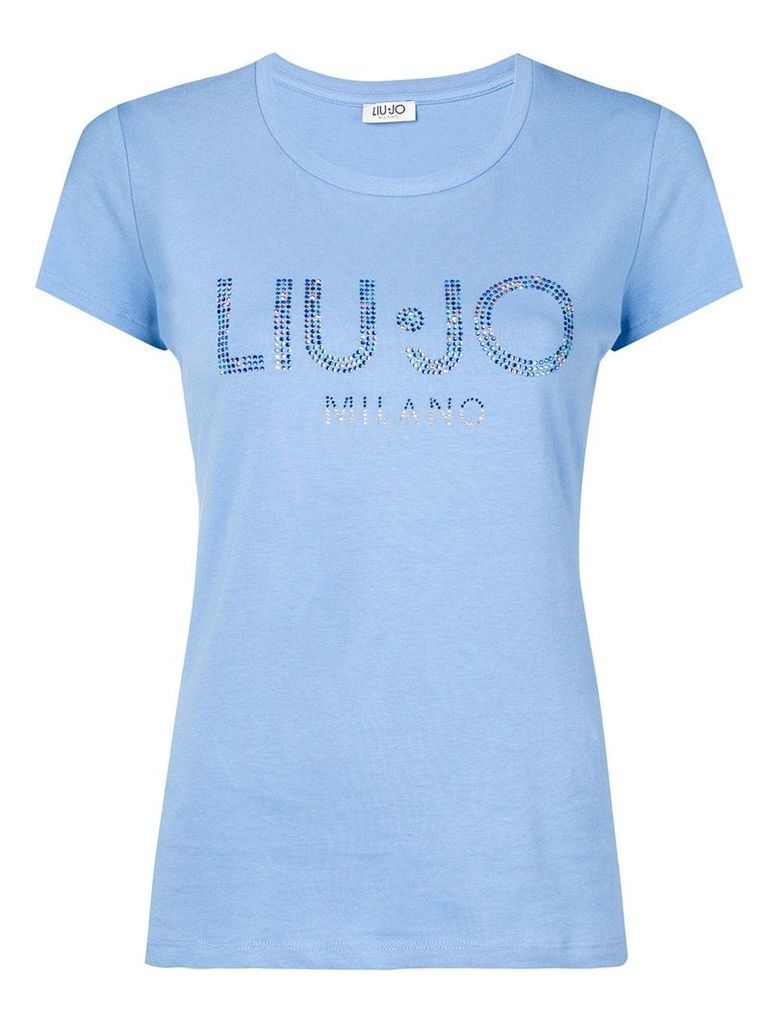 Liu Jo sequinned logo T-shirt - Blue