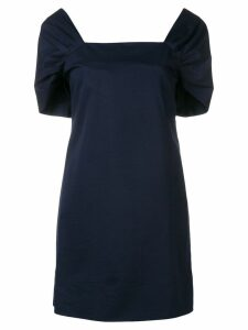 Theory square neck dress - Blue