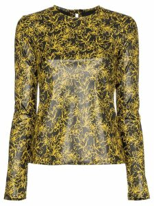 Markoo floral print fitted top - Black